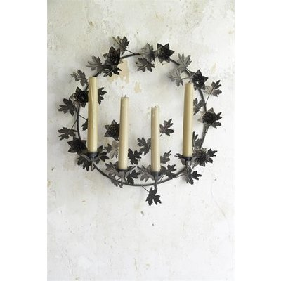 Jeanne d'Arc Living Candle holder- Wreath for Wal