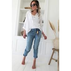 Bypias Amor, Linen Shirt, white Größe 1