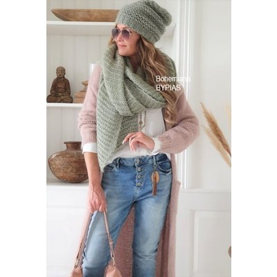 Bypias Coziness Shawl in Danish Green oder Grey