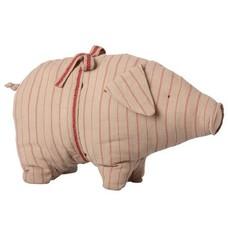 Maileg Pig, Grey, Medium