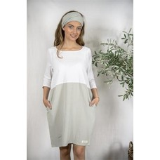 Jeanne d'Arc Living SP20 Dress-Sissel-White/ light petrol, Größe S