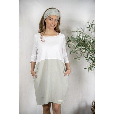 Jeanne d'Arc Living SP20 Dress-Sissel-White/ light petrol , Größe S von Jeanne d'Arc Living