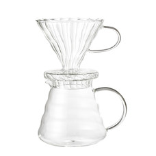 Coffe Drip Pot, Clear, Glass