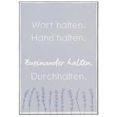 IB Laursen Metallschild, Wort halten, Hand halten