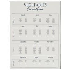 IB Laursen Metallschild, Vegetables Seasonal Guide