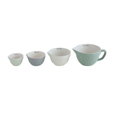 Measuring cup, Multicolor, Stoneware von Bloomingville