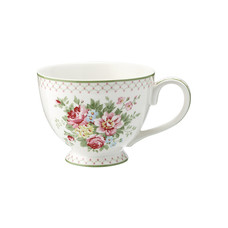 Greengate Teacup Aurelia white