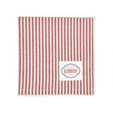 Greengate Napkin w/lace Alice Stripe red