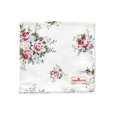Greengate Napkin with lace Aurelia white