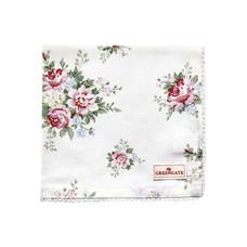 Greengate Napkin with lace Aurelia white