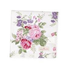Greengate Napkin with lace Rose white
