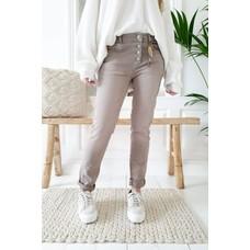 Bypias Perfekt Jeans Super comfy, Taupe, Größe M von Bypias