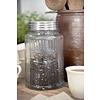 Jeanne d'Arc Living Glass jar with metal lid - Coffee or Tea