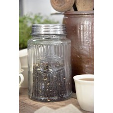 Jeanne d'Arc Living Glass jar with metal lid - Coffee or Tea