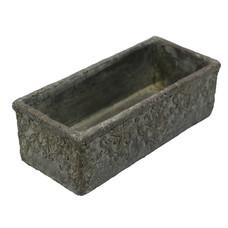 länglicher Topf aus Zement