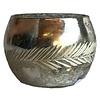 Windlicht aus mundgeblasenem Silberglas, 2,90€