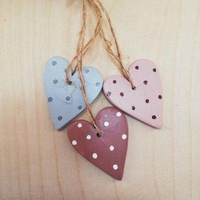 Madleys Hanging flat hearts 3ass. von Madleys