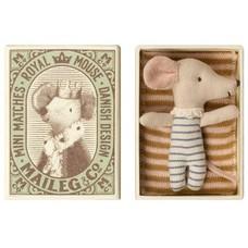 Maileg Mouse, Baby, sleep-wakey in Box