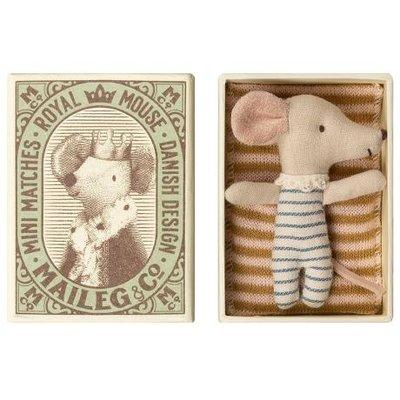 Maileg Mouse, Baby, sleep-wakey in Box, Junge oder Mädchen