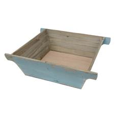 Holzkorb, blau patiniert