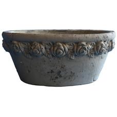 ovaler Topf, Keramik beige