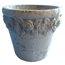 Pflanztopf, Keramik, beige