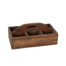 Holzkiste mit 6 Fächer und Griff