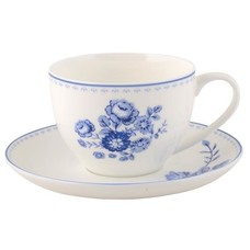 IB Laursen Tasse mit Untertasse Blue Rose
