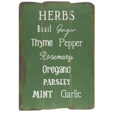 IB Laursen Holzschild Herbs