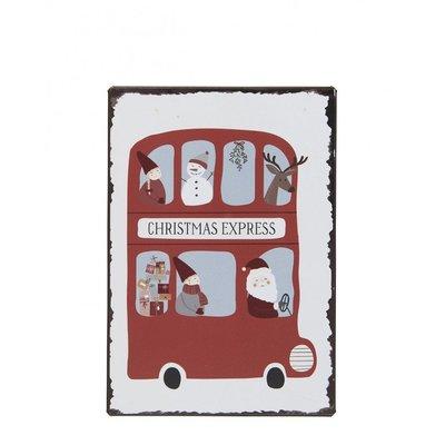 IB Laursen Metallschild, Christmas Express von IB Laursen