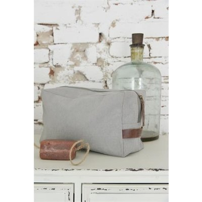 Jeanne d'Arc Living Toilet bag with leather strap, grey von Jeanne d'Arc Living