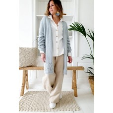 Bypias Lace Dreams long Cardigan, Ice blue