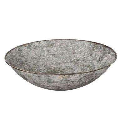 Schale aus Metall, grau/ braun