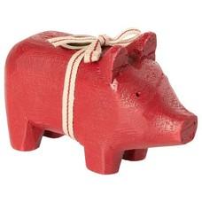 Maileg Holzschwein klein in rot oder schwarz