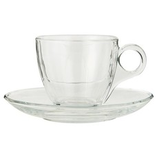 IB Laursen Tasse mit Untertasse, Glas