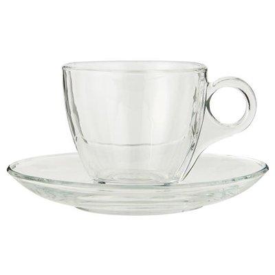 IB Laursen Tasse mit Untertasse, Glas von IB Laursen