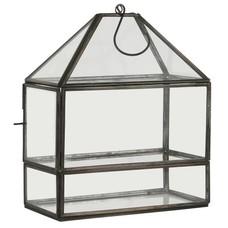 IB Laursen Laterne länglich mit Glasboden und Haken