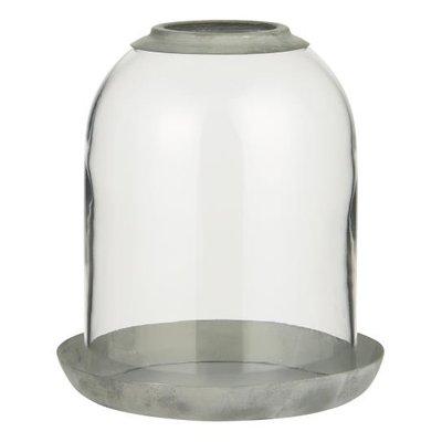 IB Laursen Glasglocke Loch oben und Metallschale von IB Laursen