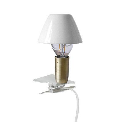 Strömshaga Lamp Mini On Clip Antique White von Strömshaga
