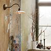 Strömshaga Wall Lamp Gustav White/Antique Brass von Strömshaga