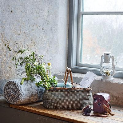 Strömshaga Textile Basket Dot Green von Strömshaga