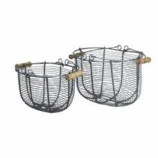 Strömshaga Wire Basket Oval in 2 Größen, Zink