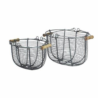 Strömshaga Wire Basket Oval in 2 Größen, Zink von Strömshaga
