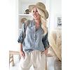 Bypias Amor, Linen Shirt, Größe 1 , Graphite