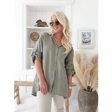 Bypias Chill out Linen Shirt, olive, Größe 1