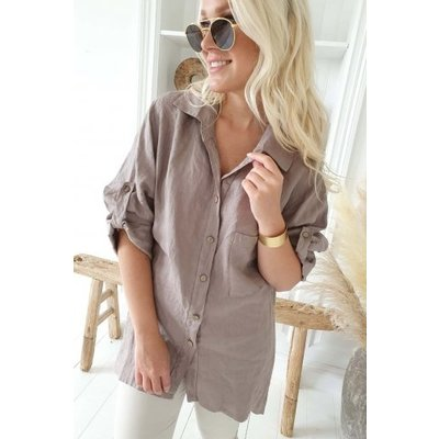 Bypias Chill out Linen Shirt, taupe Größe 1