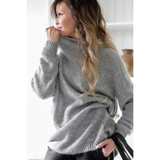 Bypias Loose Jumper grey, One Size