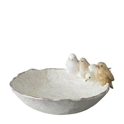 Wikholmform Vogelbad, White Melange von Wikholmform