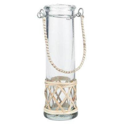 IB Laursen Vase mundgeblasen reagenzglasförmig mit Bambus von IB Laursen
