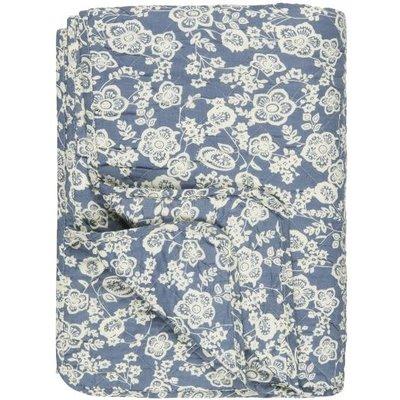 IB Laursen Quilt blau mit Blumen von IB Laursen